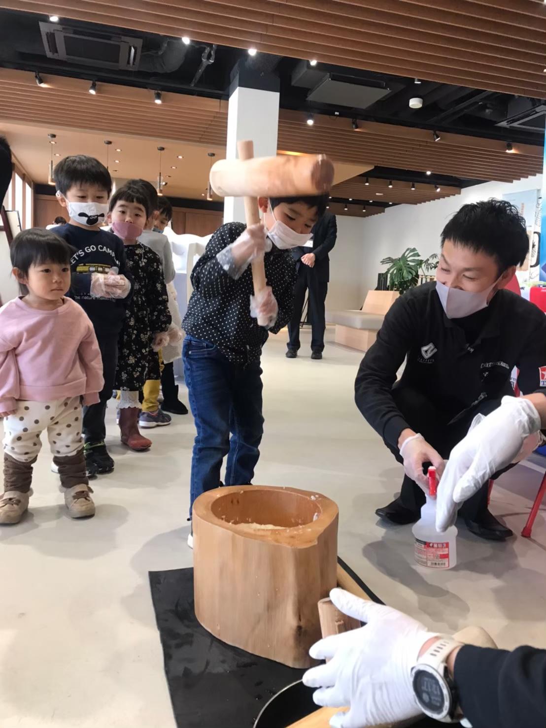 <GW・こどもの日特別イベント>餅つき&柏餅作り体験
